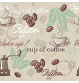 Seamless hand drawn vintage coffee pattern vector image vector image