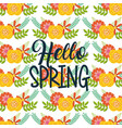 seamless pattern hello spring floral decoration vector image
