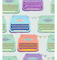 seamless typewriter vector image