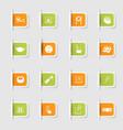 set a collection unique paper stickers vector image vector image