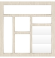 Set of White Banners on Light Wooden Surface vector image vector image