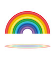seven colors of the rainbow rainbow icon vector image vector image