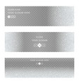 silver banners and cards vector image vector image