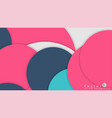 simple and colorful circles background design vector image