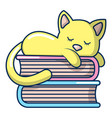 sleeping cat icon cartoon style vector image vector image
