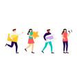 social media marketing communication people vector image vector image