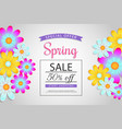 spring sale off discount vaucher brochure vector image vector image