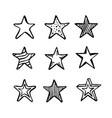 stars doodle art set vector image
