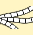 template for photos wavy retro film stripes vector image