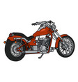 the red heavy chopper vector image vector image