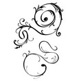 thin scroll element pair vector image