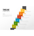 timeline template with icons vector image vector image