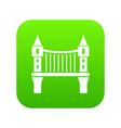 tower bridge icon green vector image vector image