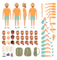 travel people constructor body parts happy vector image vector image