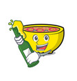 with beer soup union mascot cartoon vector image vector image
