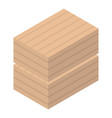 wood delivery box icon isometric style vector image vector image