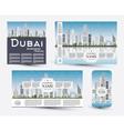 Corporate Identity templates set with Dubai vector image