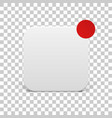 white icon template with red notification circle vector image