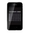 2013 year calendar on abstract design phone
