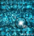 Abstract blue mosaic vector image vector image