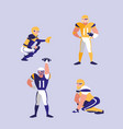 american football team character vector image vector image