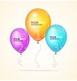 ballon Option banner vector image