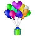 balloon gift box vector image vector image
