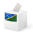 Ballot box with voting paper Solomon Islands vector image vector image