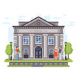 banking operations bank building facade with vector image vector image