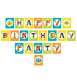 birthday party garland with robot vector image vector image