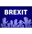 Brexit Text Isolated hand flag of the vector image