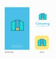 building company logo app icon and splash page vector image vector image