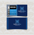 business card image blue color vector image vector image