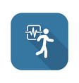 cardio workout and medical services icon vector image vector image