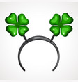 cartoon headband icon with clover shape ears head vector image