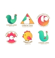 chicken logo vector image