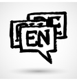 Choose or change language icon vector image