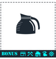coffee maker icon flat vector image