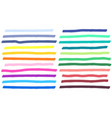 color highlight marker lines strokes colorful vector image vector image