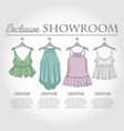color showroom set of woman casual clothes vector image vector image