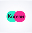 colorfull logo for korean business - modern vector image