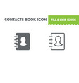 contacts book icon vector image vector image