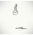 Creative idea in bulb shape as inspiration concept vector image vector image