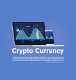 crypto currency concept bitcoin digital money vector image vector image