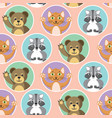 cute little animals seamless pattern vector image