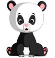 cute panda cartoon vector image vector image