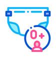 diaper newborn icon outline vector image