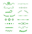 dividers calligraphic design element decorative vector image vector image