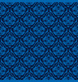 elegant blue seamless damask background vector image vector image