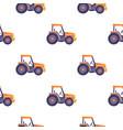 excavator tractor vehicle seamless pattern texture vector image
